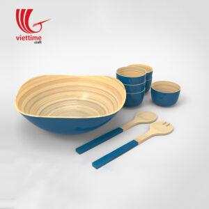 Lacquer Bamboo Bowls Set