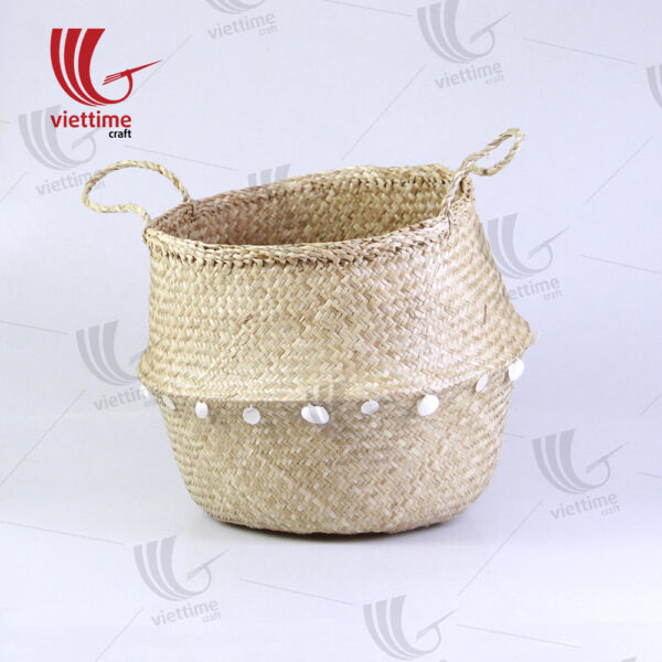 Dandy Tassel Belly Seagrass Basket