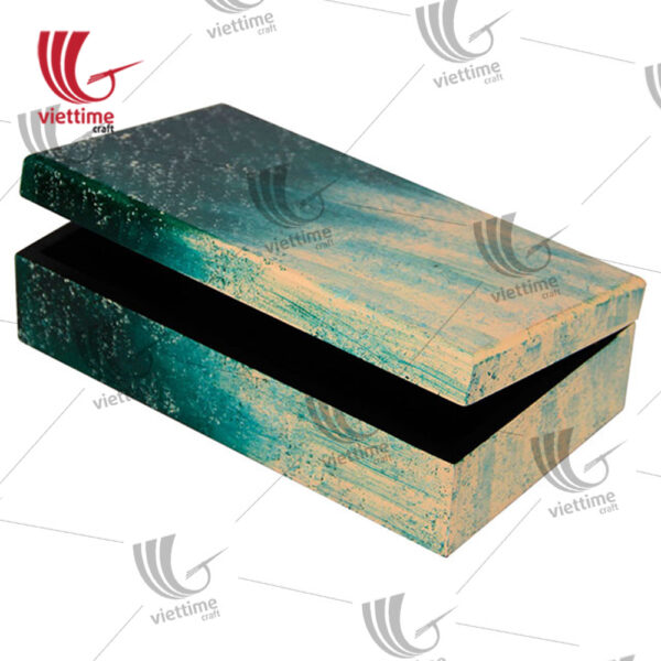 Reactangle Lacquer Box With Lid Set