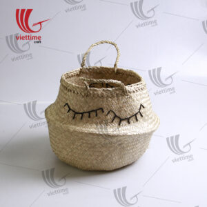 Embroidered Belly Seagrass Baskets