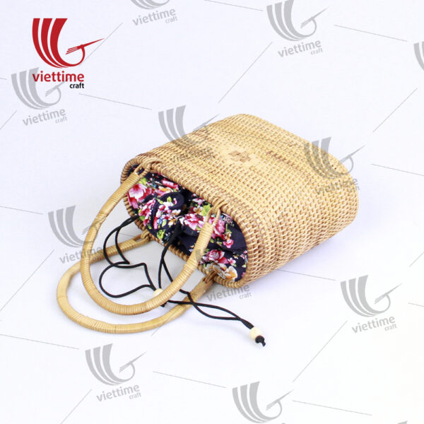 Handmade rattan Handbag With Inside Cloth