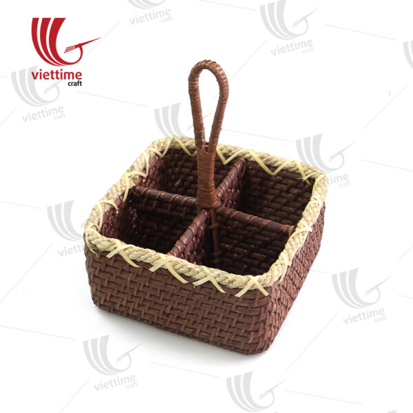 Rattan Condiment Caddy Brown Wholesales
