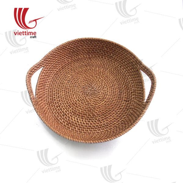 Pretty Medium Round Rattan Tray