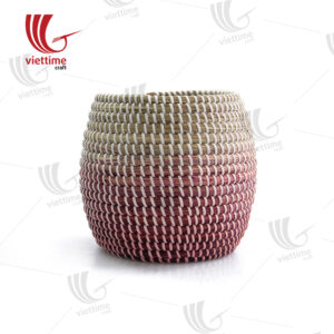 Pink Seagrass Storage Basket Wholesale