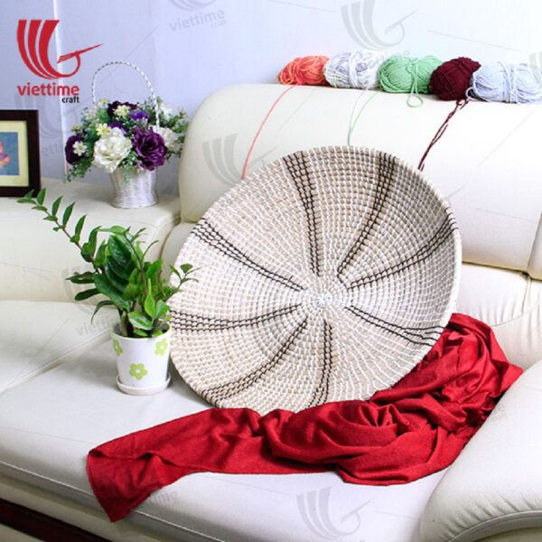 Round Seagrass Hand-Woven Wall Plate
