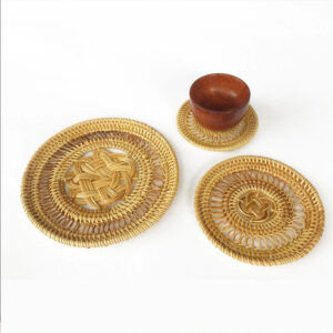 Rattan Coaster Set sku M00419