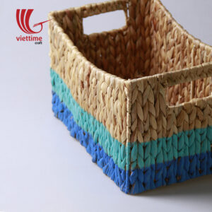 Dipped Colorful Water Hyacinth Basket Set