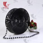 Fashionable Black Bamboo Bag