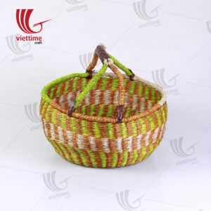 New Green bolga seagrass basket