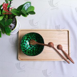 Coconut Lacquered Mother Of Pearl Inlaid Bowl