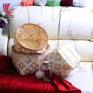 Natural Weaving Bamboo Storage Set