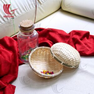 Round Weaving Bamboo Tray Set