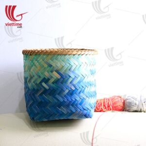 Colorful Weaving Bamboo Storage