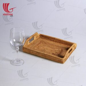 Natural Rectangular Rattan Tray