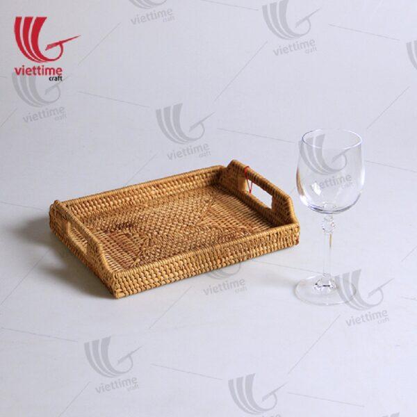 Natural Rectangular Rattan Tray
