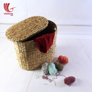 Water Hyacinth Storage Basket With Lid