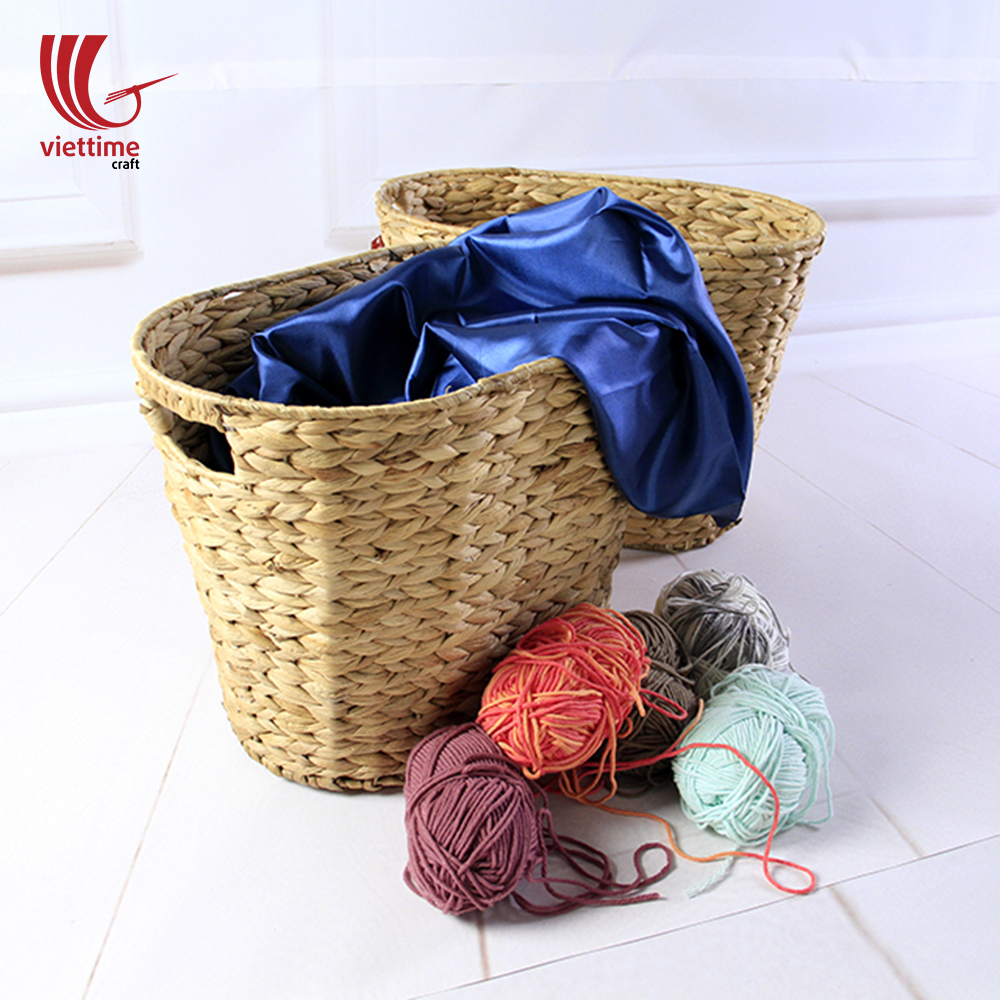 Nice Water Hyacinth Storage Basket & Nice Water Hyacinth Storage Basket wholesale made in Vietnam