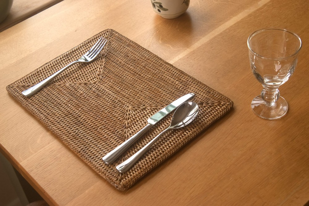 Placemat Made From Natural Rattan Wholesale Rattan Placemat