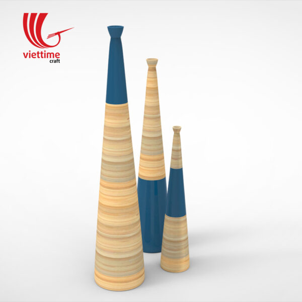 Long Neck Lacquer Bamboo Vase Set