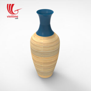 Traditional Lacquer Bamboo Vase