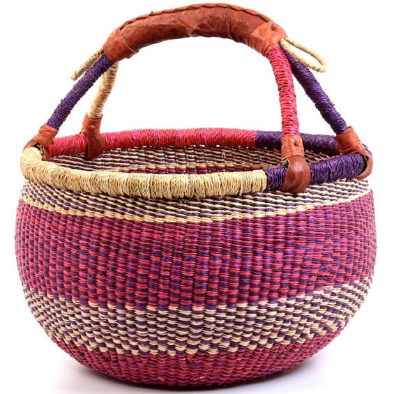 Bolga Basket Wholesale Colorful Bolga Seagrass Basket