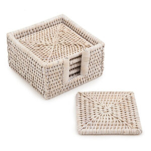 Rattan Coaster Set sku M00418