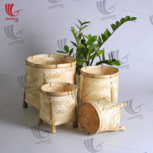 Natural Woven Bamboo Basket Set