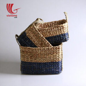 Violet Water Hyacinth Basket Set