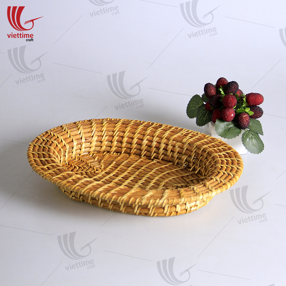 PLEASE SEE SOME Nice Small Oval Rattan Tray Took BY OURSELF: