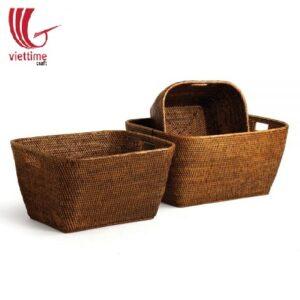 Hand Woven Rattan Home Baskets