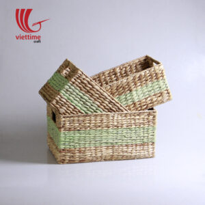 Rectangle Water Hyacinth Basket Set