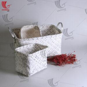 Store Small Woven Bamboo Basket Set