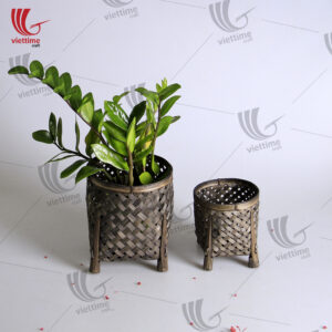 Black Weaving Bamboo Basket Set