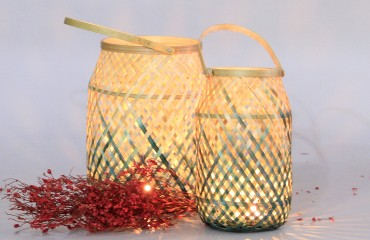 Decorate home with handmade bamboo lantern