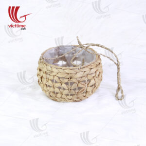 Unique Round Water Hyacinth Hanging Planters
