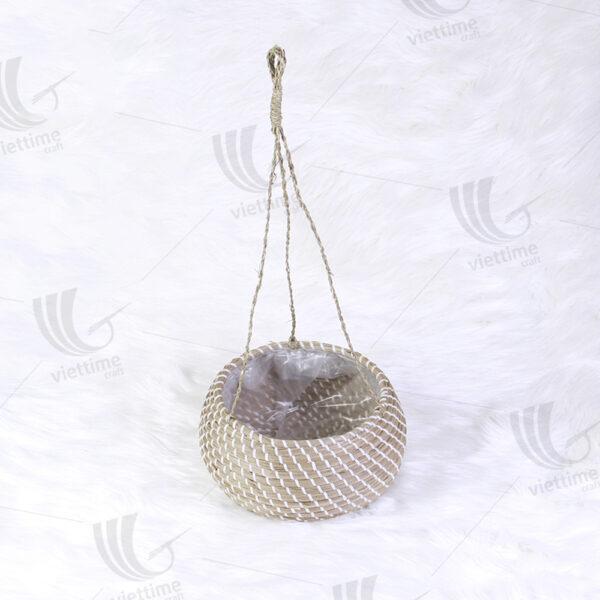 Seagrass Hanging Planter sku C00103