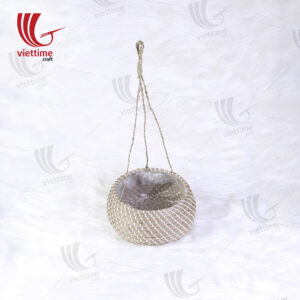 Natural Seagrass Hanging Planters With Plastic String
