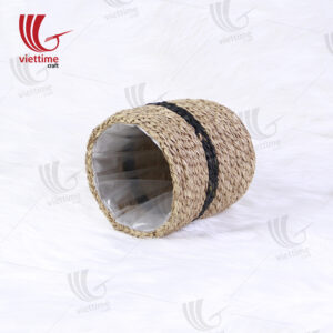 Small Round Seagrass Window Planter