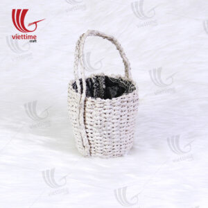 White Round Water Hyacinth Hanging Planters