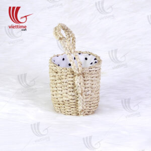 Natural Round Water Hyacinth Hanging Planters