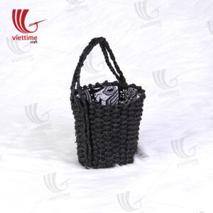 Black Round Water Hyacinth Hanging Planters