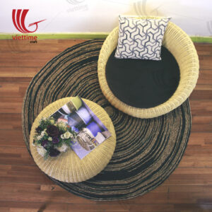 Rattan Tea Table Chair Set Wholesale