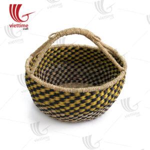 Black -Yellow Seagrass Bolga Basket