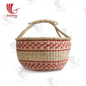 Pink Seagrass Bolga Basket Wholesale