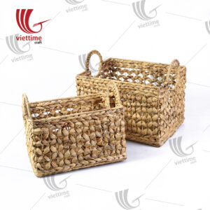 Wicker Straw Basket Storage Set