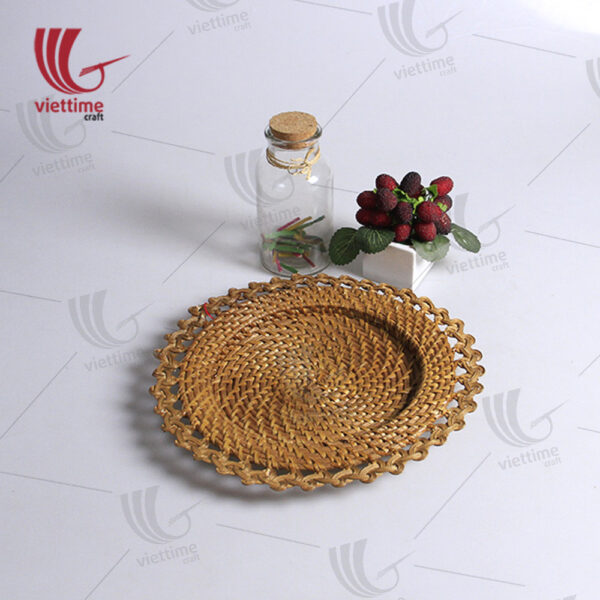 Beautiful Round Rattan Charger Plate
