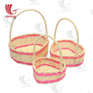 Natural Rattan Flower Fruit Basket Set