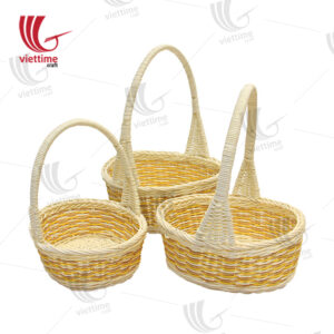 Flower Fruit Rattan Basket Set