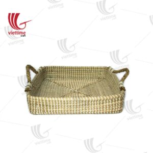 Rectangle Seagrass Tray With Handle