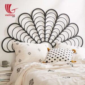 Black Rattan Bed Headboard